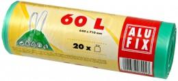 Alufix Pytle na odpadky zelené zatahovací 60l, 20ks