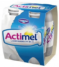 Danone Actimel bílý slazený 4x100g,