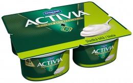 Danone Activia sladká bílá 4x120g,
