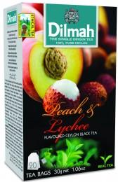 Dilmah Čaj černý Broskev Lychee