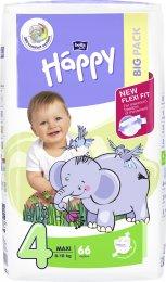 Bella Baby HAPPY plenky Maxi 8-18kg (velikost 4) Big Pack 66ks