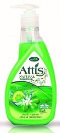 Attis oliva a okurka tekuté mýdlo
