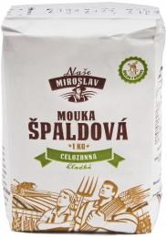 Naše Miroslav Mouka špaldová celozrnnáhladká 1kg DMT 29.9.2018