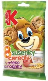 Kubík 8 cereálií: mléko a rozinky