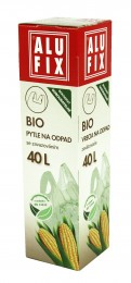 Alufix Bio pytle na odpad s uchy zelené, 40l, 8ks