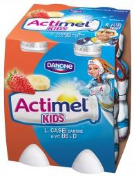 Danone Actimel ActiKids jogurtové mléko banánovo-jahodové 4x100g