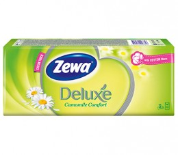 Zewa Deluxe Camomile papírové kapesníky 3vrstvé 10x10ks