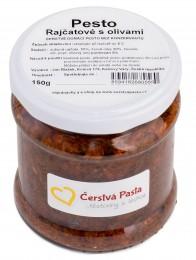 Čerstvá pasta Pesto Rajčatové s olivami