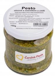 Čerstvá pasta Pesto olivové s česnekem a chilli
