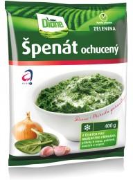 Dione Špenát ochucený mléko česnek