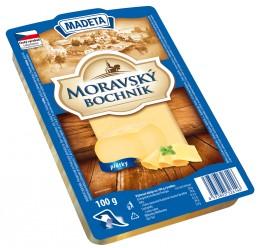 Madeta Moravský bochník sýr 45% plátky