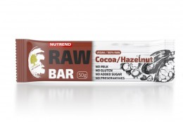 Nutrend RAW BAR, kakao+lískový ořech
