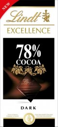 Lindt Excellence extra hořká čokoláda 78%
