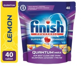 Finish Power Quantum Max lemon 40ks tablety do myčky nádobí