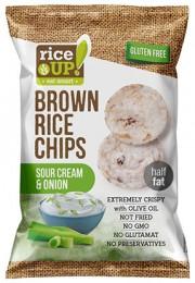 Rice Up celozrnné rýžové chipsy - smetana a cibule