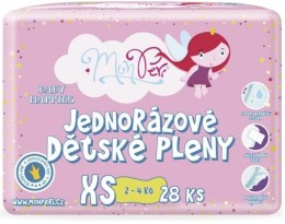 MonPeri dětské plenky XS 2-4kg (velikost 1) 28ks