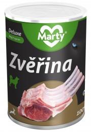 Marty DeLuxe konzerva pro psy ze 100% masa - zvěřina