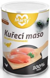 Marty konzerva pro kočky ze 100% masa - kuře