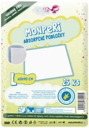 MonPeri Jednorázové absorpční podložky L 90x60cm 25ks