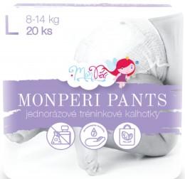 Monperi Pants dětské kalhotky L 8-13kg (velikost 4) 20ks