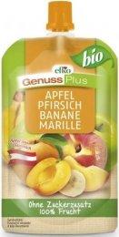 Efko BIO Genuss Plus ovocné pyré jablko-broskev-banán-meruňka