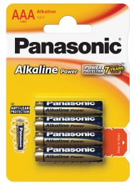 Panasonic Alkaline Power AAA baterie 4ks