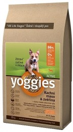 Yoggies Active kachna a jelen granule lisované za studena