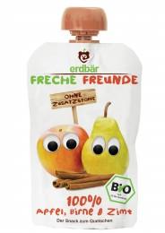 erdbär Freche Freunde Ovocná kapsička jablko, hruška a skořice