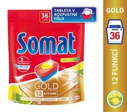 Somat Gold Lemon & Lime tablety do myčky na nádobí 36ks