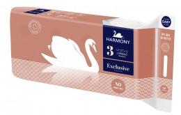 Harmony Exclusive Pure White toaletní papír 3 vrstvý 8ks