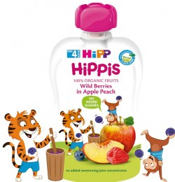 HiPP BIO 100% ovoce Jablko-Broskev-Lesní ovoce