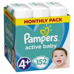 Pampers Active Baby Box plenky Maxi 10-15 kg (velikost 4+) 152ks
