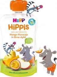 HiPP BIO 100% ovoce Hruška-Jablko-Mango-Marakuja