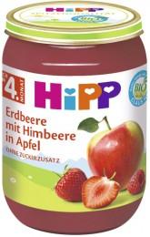 HiPP  BIO Jablka s jahodami a malinami
