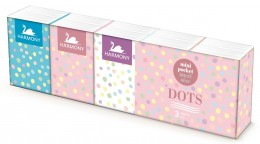 Harmony Dots papírové kapesníky 3vrstvé 10x10ks