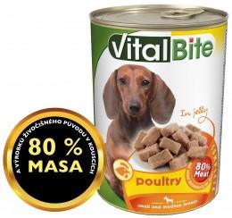 VitalBite drůbeží kousky v želé pro psy