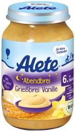 Alete BIO Večerní semolinová kaše Vanilka