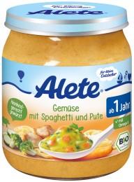 Alete BIO Zelenina-špagety-krůtí maso