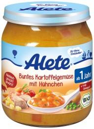 Alete BIO Zelenina-brambor-kuřecí maso