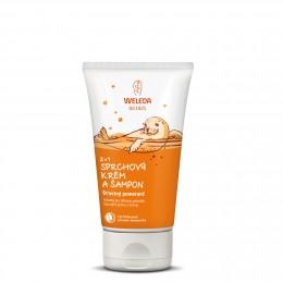 Weleda 2 v 1 sprchový krém a šampon Šťastný pomeranč