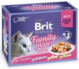 Brit Premium Cat Delicate Fillets in Jelly Family Plate 12x85g