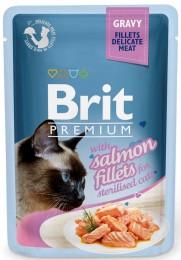 Brit Premium Cat Delicate Fillets in Gravy with Salmon for Sterilised