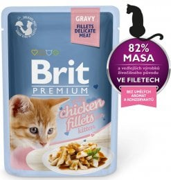Brit Premium Cat Delicate Fillets in Gravy with Chicken for Kitten