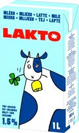 Lakto Trvanlivé mléko polotučné 1,5%