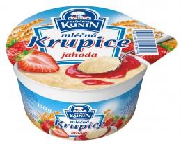 Mlékárna Kunín Mléčná krupice jahoda