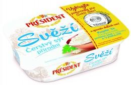 Président Svěží čerstvý sýr přírodní