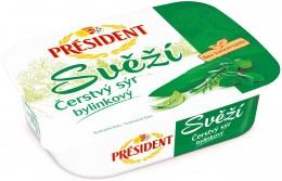 Président Svěží čerstvý sýr bylinkový
