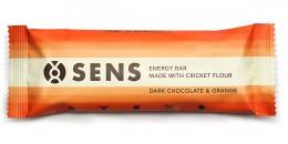 SENS Energy tyčinka - Tmavá čokoláda & Pomeranč s cvrččí moukou
