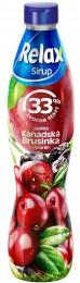 Relax ovocný sirup 33% Kanadská Brusinka Aronie