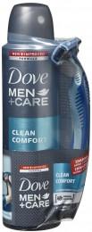 Dove Men+Care Clean Comfort antiperspirant sprej pro muže (+ holicí strojek zdarma)